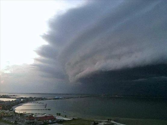 Photo:  Hurricane Irene making landfall.